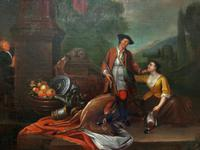 Circle of John Theodore Heins Fine Large 18th Century Hunting Oil Painting (3 of 11)