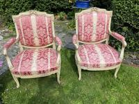 Pair of Large Painted Armchairs (6 of 9)