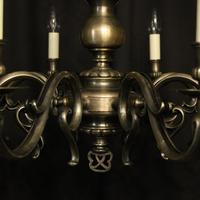 French Silver Plated 8 Light Mid 20th Century Chandelier (9 of 10)