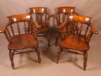 Set of 8 Captains Chairs Ash & Elm (3 of 13)