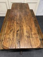 Rustic Oak Farmhouse Table & Bench Set (10 of 29)