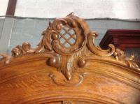 Carved Oak 2 Door  Armoire (5 of 9)