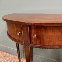 Elegant Demi Lune Tambour Front Antique Side Table (3 of 6)