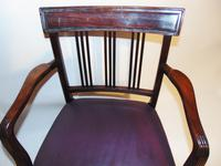 Scottish Georgian Mahogany Elbow Chair (2 of 6)