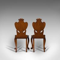 Pair of Antique Shield Back Chairs, Scottish, Oak, Hall Seat, Victorian c.1880 (4 of 12)