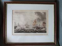 """Coloured Aquatint Entitled """" Lord Howe's Victory June 1st 1794"""" from the Volume """"The Naval Achievements of Great Britain from the Year 1793-1817"""" Published by James Jenkins 1817"""