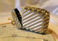 Antique Vesta Case 1890s Victorian The Beacon Chunky Silver Chrome Case (3 of 10)