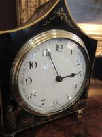 Small Antique Chinoiserie Gilt Mantel Clock (4 of 7)