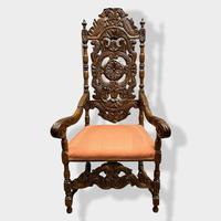 17th Century High Back Armchair (2 of 14)