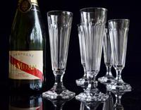 8 Val 8 Saint Lambert Champagne Flutes hexagonal foot (5 of 5)