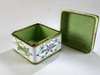Antique Canton Painted Enamel Lidded Box (2 of 6)