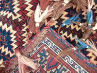 Rare Fabulous Antique Hand Woven Yomut Asmalyk (8 of 8)