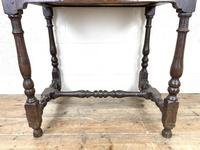 18th Century Antique Oak Side Table with Drawer (6 of 10)