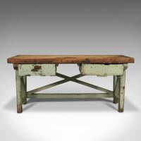 Large Antique Silversmith's Table, English, Pine, Industrial, Bench, Victorian (2 of 12)