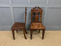 Good Pair of Victorian Walnut Hall Chairs (4 of 13)