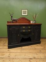 Art Nouveau Black Painted Sideboard, Gothic shabby chic (11 of 16)