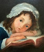 Enchanting Original 20thc English Sch Oil Portrait Painting Of A Victorian Child (3 of 8)