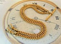 Victorian Pocket Watch Chain 1890s Antique 12ct Rose Gold Filled Albert With T Bar (2 of 12)