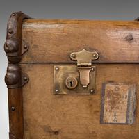 Large Antique Steamer Trunk, English, Cedar, Shipping Chest, Edwardian c.1910 (11 of 12)
