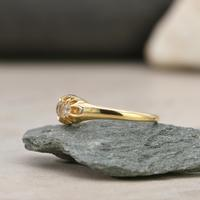 The Vintage 1930s Five Diamond Claw Set Ring