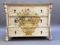 19th Century Painted Commode Chest of Drawers (4 of 12)
