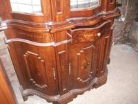 Ornate Italian Style Inlaid Display Cabinet on Cupboard Base (3 of 4)
