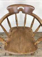 Antique Beech Spindle Back Smoker's Bow Chair (3 of 8)