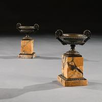 Fine Collection of Early 19th Century Grand Tour Bronze & Marble Empire Tazzas (4 of 9)