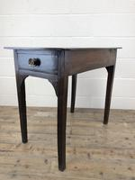 Antique Georgian Oak Side Table with Drawer