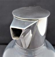 Christopher Dresser for Hukin & Heath, Silver Plate & Glass Claret Jug c.1880 (2 of 8)