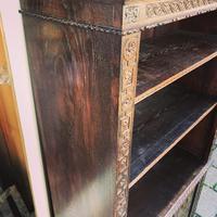 Carved Oak Adjustable Bookcase (3 of 12)