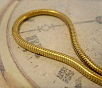 Vintage Pocket Watch Chain 1970 12ct Gold Plated Snake Link Albert With T Bar (5 of 10)