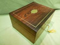 Unisex Rosewood Fitted Jewellery – Dressing Box. c1835 (3 of 12)