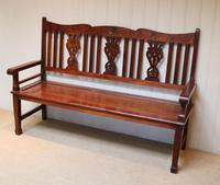 Edwardian Style Mahogany Bench (3 of 11)