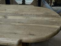 Huge French Bleached Oak Monastery Dining Table (15 of 30)