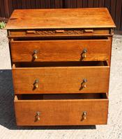 1940s 3 Drawer Oak Chest of Drawers (2 of 4)