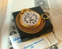 Vintage Pocket Watch 1970s Railroad 12ct Gold Plated Swiss & West Germany Nos (4 of 12)