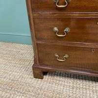 Unusual Small Edwardian Mahogany Antique Bachelors Chest (3 of 7)