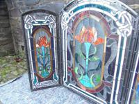 Arts & Crafts Leaded Glass Fire Screen (7 of 14)