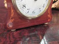 Small Edwardian Period Inlaid Mantel Clock (8 of 9)