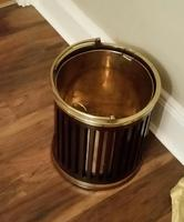 George III Mahogany & Brass Bound Plate Bucket (2 of 6)