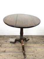 Antique George III Oak Tripod Table (5 of 6)