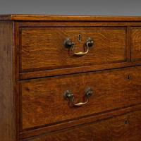 Antique Chest of Drawers, English, Oak, Tallboy, Early Victorian c.1840 (3 of 12)
