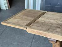 Superb Rustic Large Bleached Oak Farmhouse Table with Extensions (29 of 36)