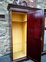 Large Edwardian Walnut Princess Wardrobe (7 of 10)