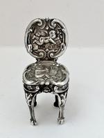Edwardian, Miniature Silver Chair, Levi & Salaman, B'ham 1902 (3 of 10)