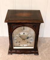 Oak Bracket Clock Supplied By Harrods (9 of 11)