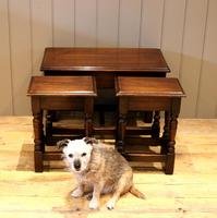 Solid Oak Nest of Tables (8 of 11)