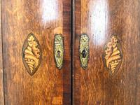Antique Oak Bow Front Corner Cupboard (3 of 8)