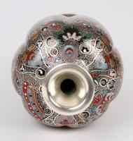 Oriental, Chinese / Japanese Exceptional Silver Metal Cloisonne Vase (8 of 25)